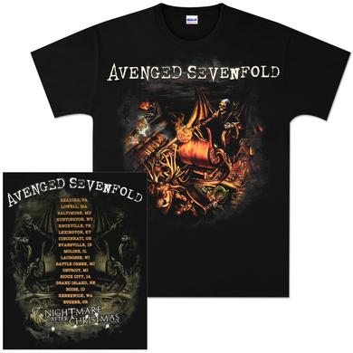 Avenged Sevenfold Nightmare After Christmas Tour T-Shirt