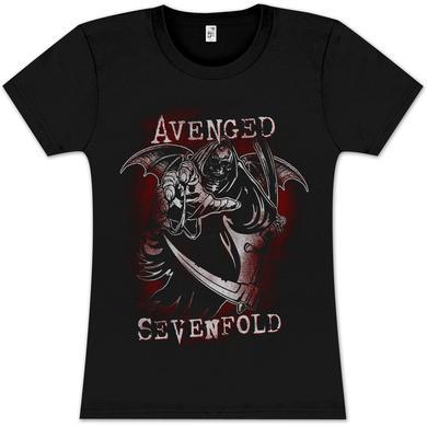 Avenged Sevenfold Reaper Reach Girlie T- Shirt