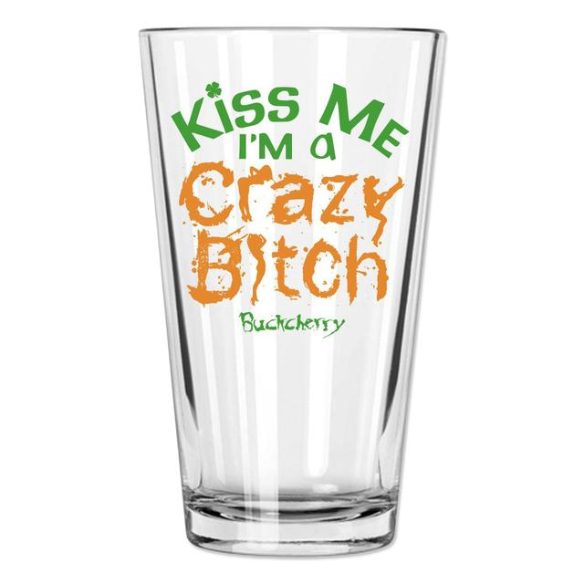 Buckcherry St Patricks Day Kiss Me Pint Glass