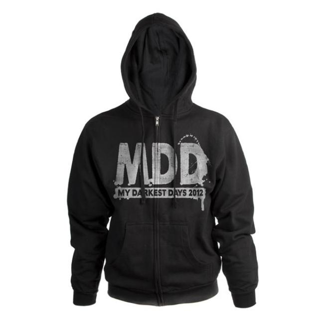My Darkest Days Logo Zip Tour Hoodie