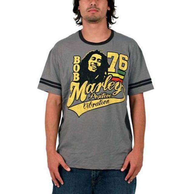 Bob Marley Positive Vibrations Soccer Tee