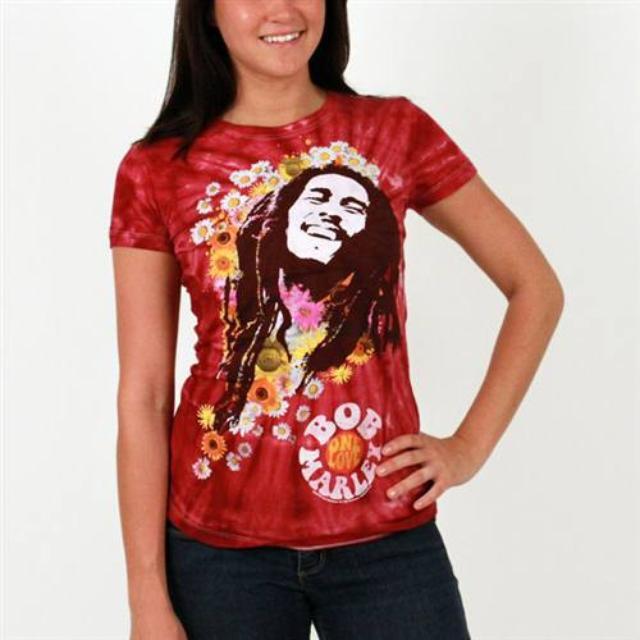 Bob Marley Flowers Tee