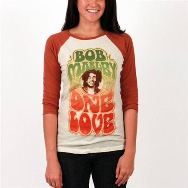 Bob Marley One Love Baseball Tee