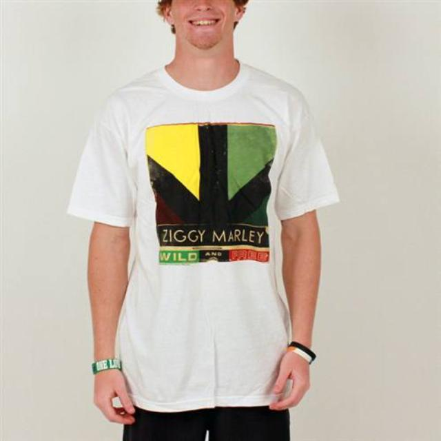 Ziggy Marley Wild and Free Logo Men's Tee