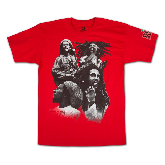 Bob Marley Red Quad Photo T-Shirt