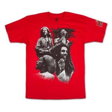 Bob Marley Red Quad Photo T-Shirt