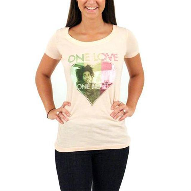 Bob Marley One Heart Scoop Neck