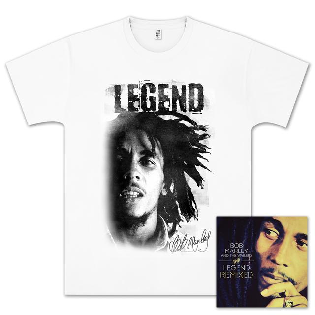 Bob Marley Legend Remixed CD/T-Shirt Bundle