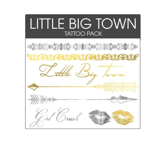 Little Big Town Gold/Silver Metallic Temporary Tattoo Set