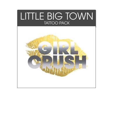 Little Big Town Girl Crush Metallic Temporary Tattoo