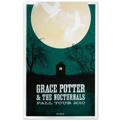 Grace Potter And The Nocturnals Grace Potter & The Nocturnals 2010 Fall Tour Moon Poster