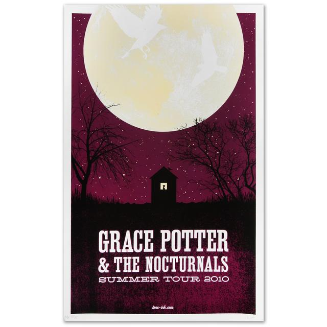 Grace Potter And The Nocturnals Grace Potter & The Nocturnals 2010 Summer Tour Moon Poster