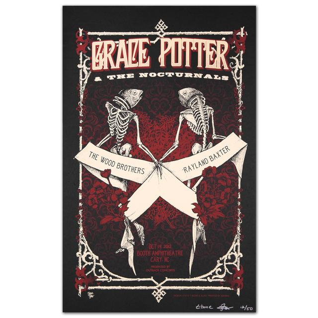 Grace Potter And The Nocturnals GPN Fall Lithograph - Booth Amphitheatre 10/19/2012