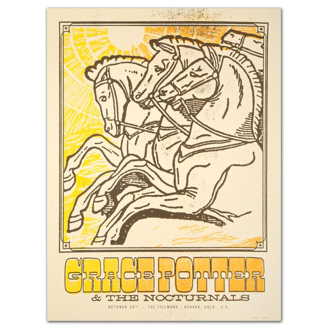 Grace Potter And The Nocturnals GPN Fall Lithograph - Denver, COL., U.S. 10/26/2012