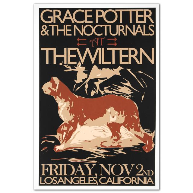 Grace Potter And The Nocturnals GPN Fall Lithograph - The Wiltern 11/2/2012