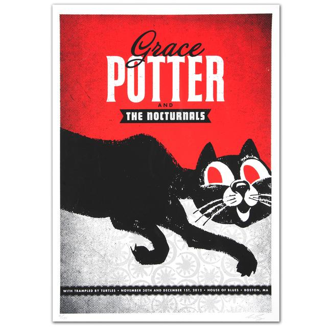 Grace Potter And The Nocturnals GPN Fall Lithograph - Boston MA - 11/30 & 12/1/2012