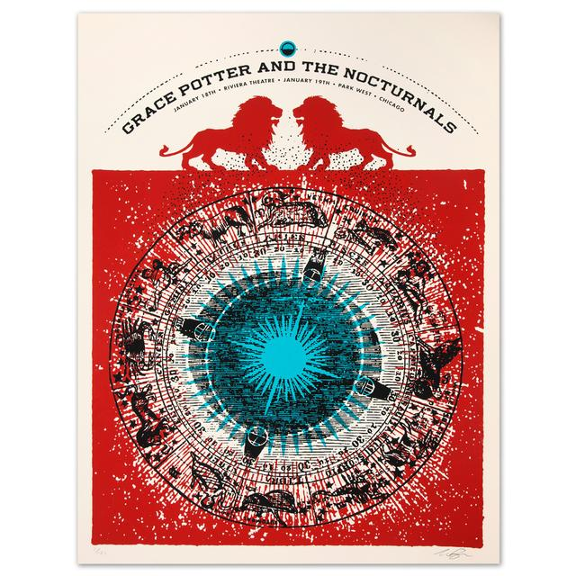 Grace Potter And The Nocturnals GPN -  Riviera Theater Jan. 19 Park West, Chicago Print