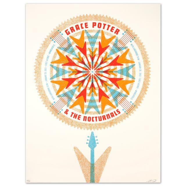 Grace Potter And The Nocturnals GPN - Langhorne Slim Jan. 25 & 26 2013 First Av. Minneapolis Print