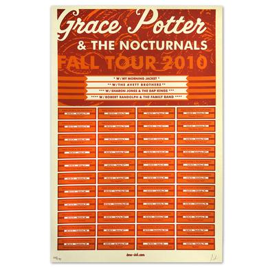 Grace Potter And The Nocturnals Grace Potter & The Nocturnals 2010 Fall Tour Dates Poster