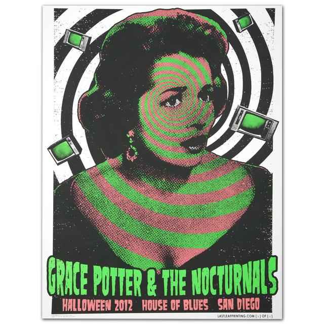 Grace Potter And The Nocturnals GPN Fall Lithograph - San Diego 10/31/2012