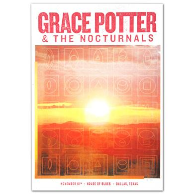 Grace Potter And The Nocturnals GPN Fall Lithograph - Dallas TX 11/10/2012