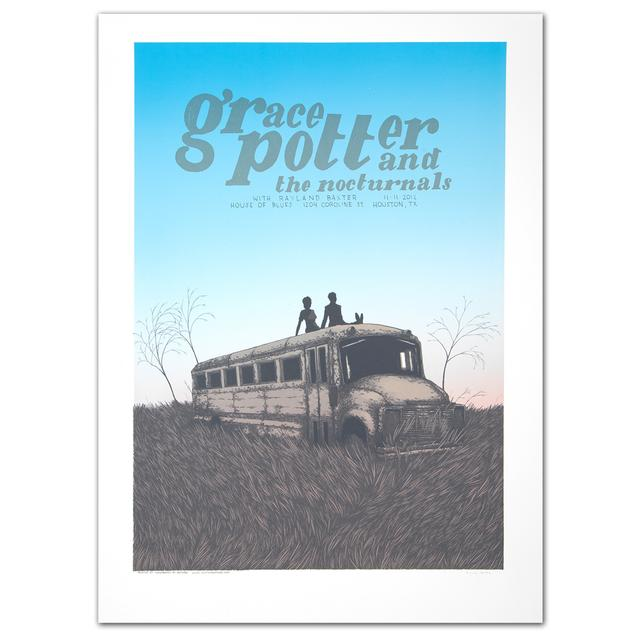 Grace Potter And The Nocturnals GPN Fall Lithograph - Houston TX 11/11/2012