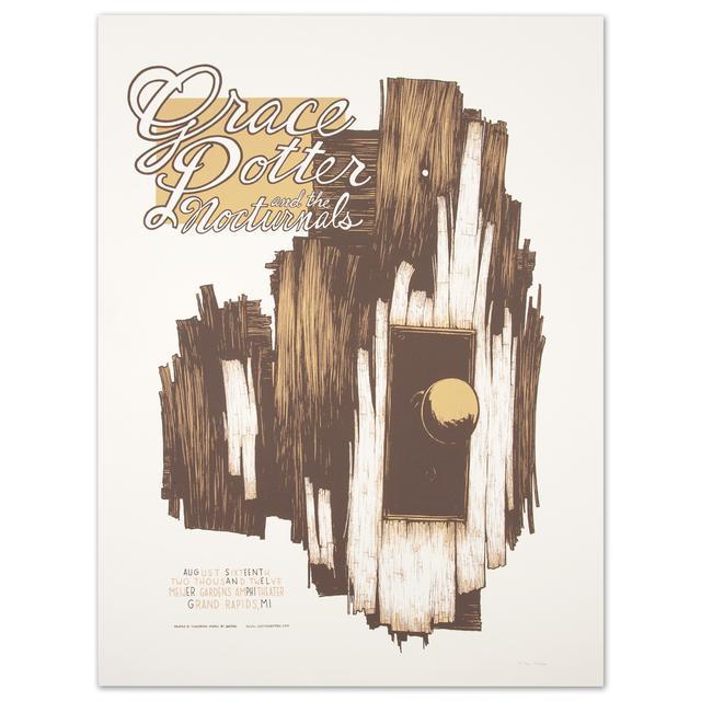 Grace Potter And The Nocturnals GPN - August 16 2012 Meijea garden Amphitheatre, Grand rapids, MI. Print