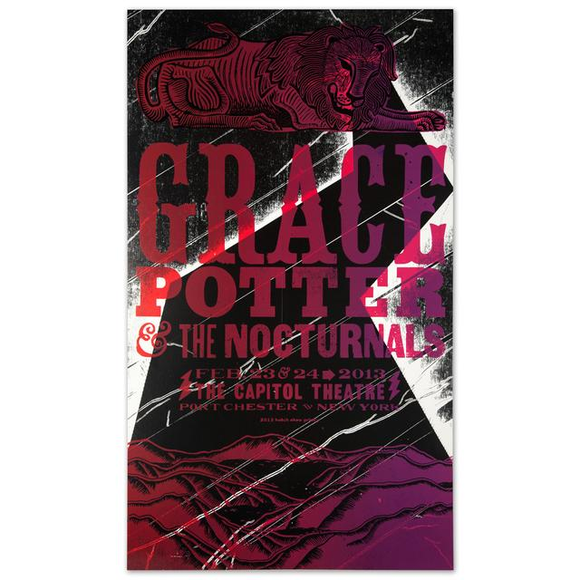 Grace Potter And The Nocturnals GPN - Feb. 23 & 24 2013, The Capitol Theater, NY. Print