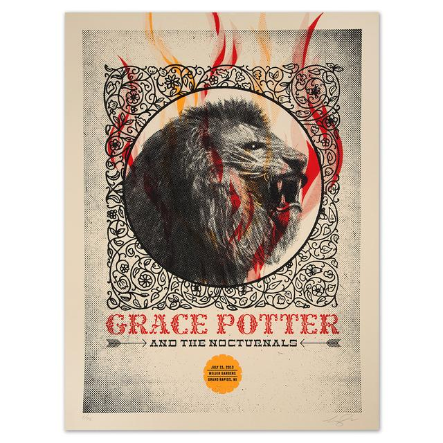 Grace Potter And The Nocturnals GPN - July 21, 2013 Meijer Gardens Show Print