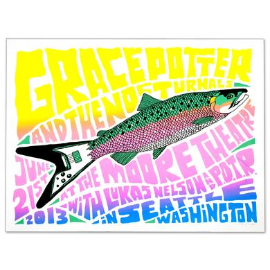 Grace Potter And The Nocturnals GPN - Seattle WA June 21st 2013 Show Print