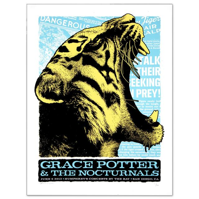Grace Potter And The Nocturnals GPN - June 6 2013 San Diego Show Print