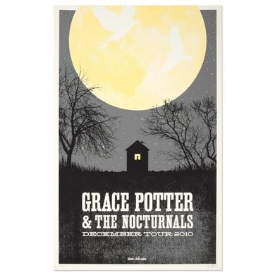 Grace Potter And The Nocturnals Grace Potter & The Nocturnals 2010 December Tour Moon Poster