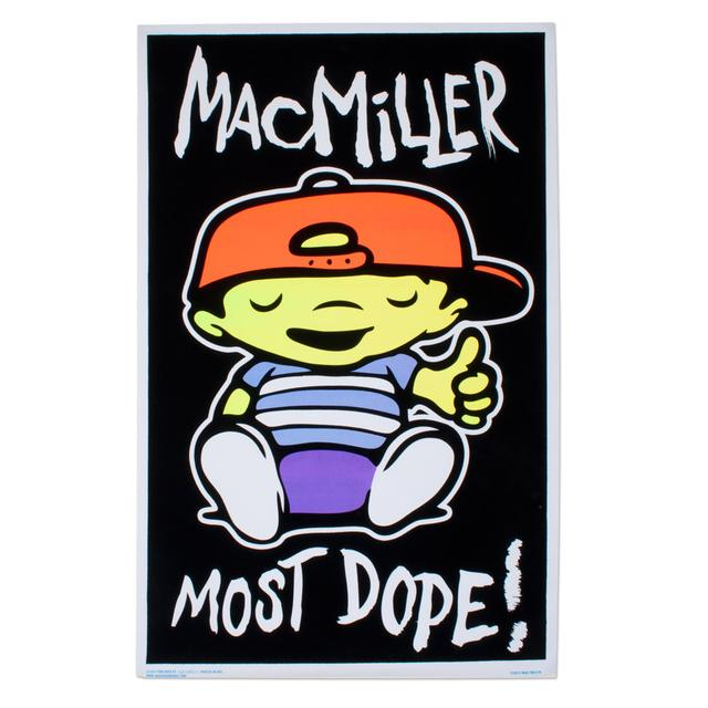 Mac Miller Black Light Poster