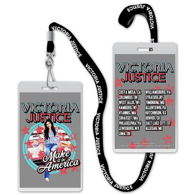 Victoria Justice Laminate and Lanyard