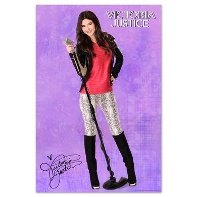 Victoria Justice Mic Stand Poster