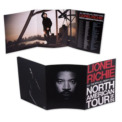 Lionel Richie Tri-Fold 2014 Tour Program