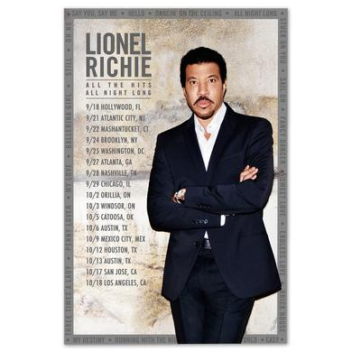 Lionel Richie Tour Lithograph