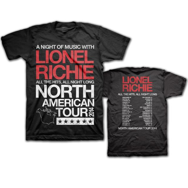 Lionel Richie North American Tour 2014 T-Shirt