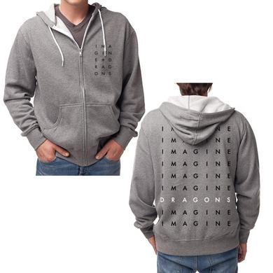 Imagine Dragons Stacked Logo Zip Hoodie