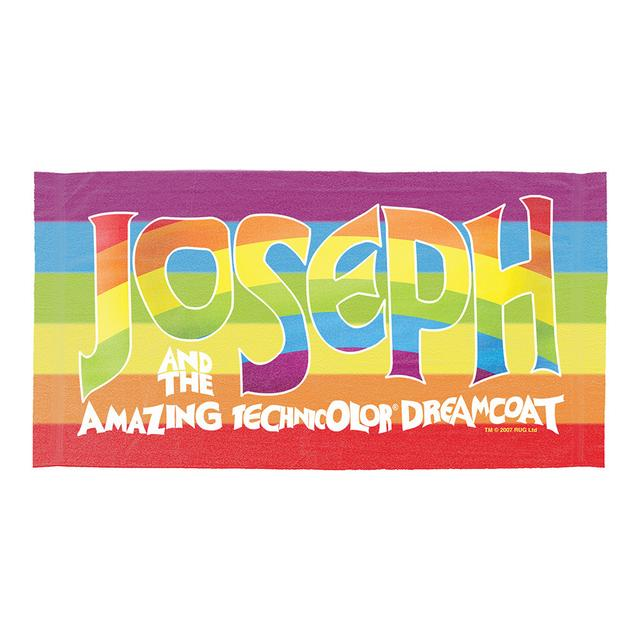 Joseph And The Amazing Technicolor Dreamcoat Joseph Tour 2014 Logo Towel