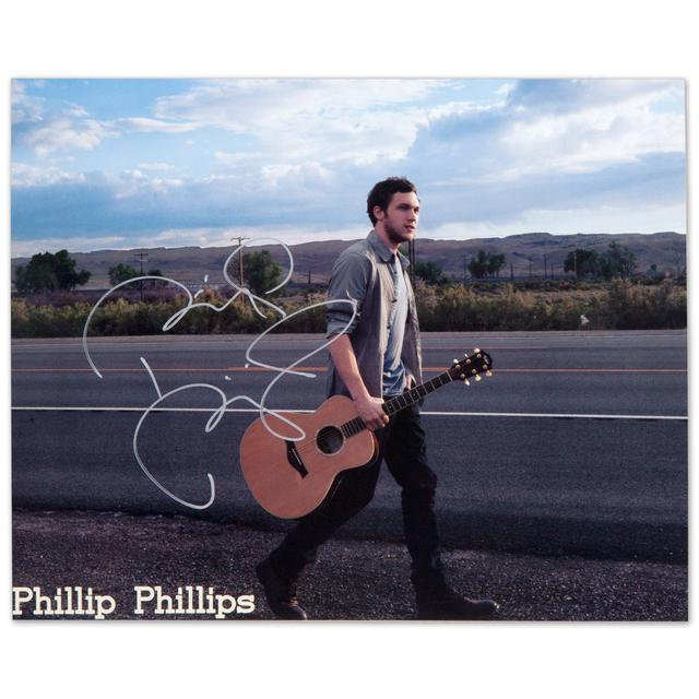 Phillip Phillips Autographed Country Highway 8x10 Photo