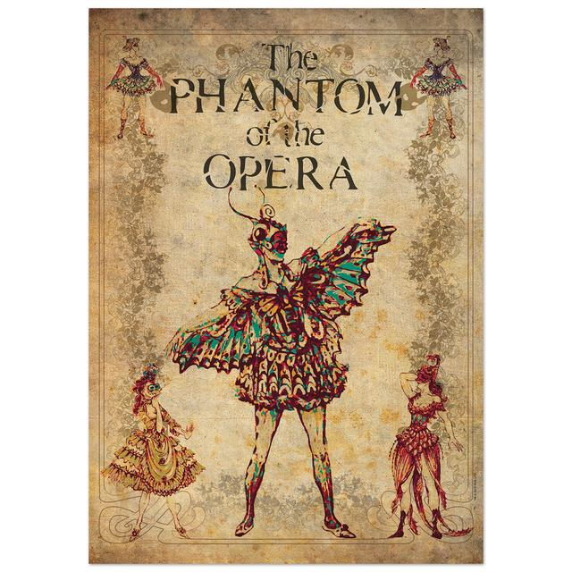 Really Useful Group Phantom Of The Opera Lithograph Masquerade Ball
