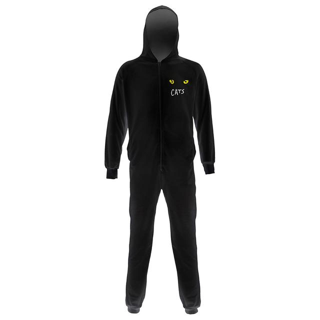 Really Useful Group Cats Adult Black Onesie