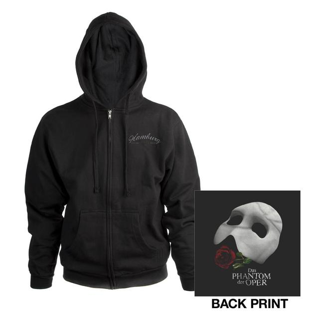 Really Useful Group Black Phantom Of The Opera Hooded Sweatshirt German Production
