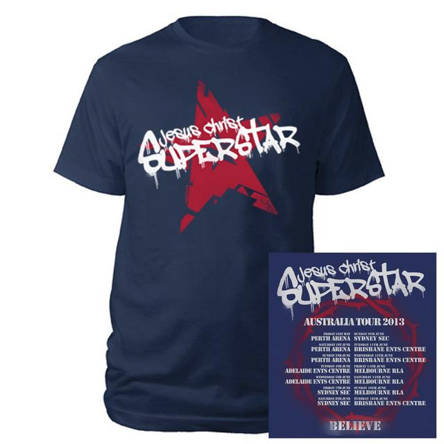 Really Useful Group Jesus Christ Superstar Graffitti Navy T-shirt