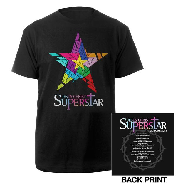 Really Useful Group Black JSC Superstar Itinerary T-shirt