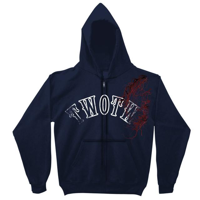 The War Of The Worlds TWOTW Final Arena 2014 Tour Navy Zip Hoody
