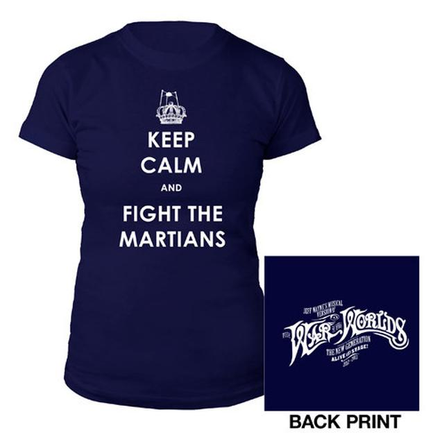The War Of The Worlds TWOTW Navy Keep Calm/Logo Babydoll
