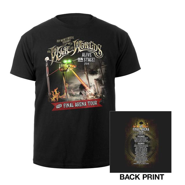 The War Of The Worlds TWOTW Tour/ Itin 2014 Black Kids T-shirt