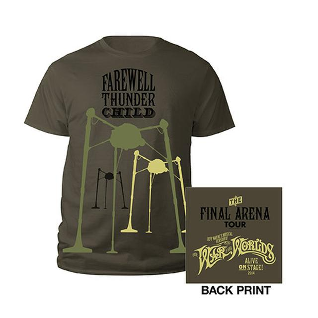 The War Of The Worlds MFM Military Green Kids 2014 T-shirt